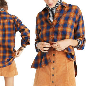 Madewell Westward Ardan Plaid Shirt HW7158